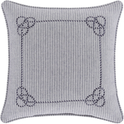 J. Queen New York Shore Navy 18 in. Square Decorative Throw Pillow