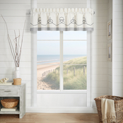 J. Queen New York Shore Ivory Window Straight Valance