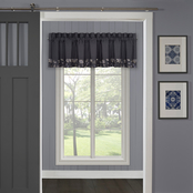 J. Queen New York Delilah Indigo Window Straight Valance