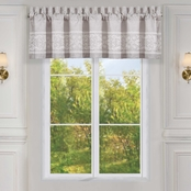 Five Queens Court Maryanne Beige Window Straight Valance