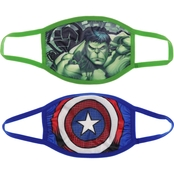 Marvel Kids Hulk and Captain America Face Mask 2 pk.