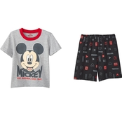 Disney Infant Boys Mickey Mouse Smiley Face Tee and Shorts 2 pc. Set