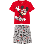 Disney Toddler Boys Mickey Mouse Hands Shorts and Tee 2 pc. Set