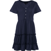 Derek Heart Juniors Flutter Sleeve Baby Doll Dress