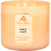 Bath & Body Works White Barn Color 3 Wick Candle, Paris Cafe