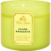 Bath & Body Works White Barn Color 3 Wick Candle Island Margarita