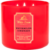 Bath & Body Works White Barn Color 3 Wick Candle Watermelon Lemonade