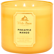 Bath & Body Works White Barn Color 3 Wick Candle Pineapple Mango