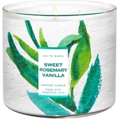 Bath & Body Works Fresh Start Watercolor: Sweet Rosemary Vanilla 3 Wick Candle