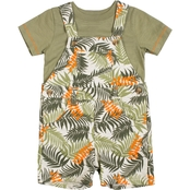 Little Lad Infant Boys Heather Tropic Shortalls and Tee 2 pc. Set