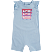 Levi's Infant Girls Ruffle Sleeve Romper