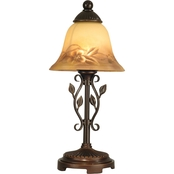 Dale Tiffany Vine Leaf Hand Painted Accent Lamp