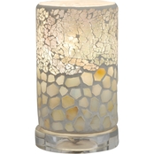 Alps Mosaic Glass 6.75 in. Accent Lamp