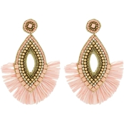 Panacea Raffia Statement Earrings