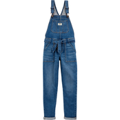 OshKosh B'gosh Little Girls Stretch Denim Tie Belt Overalls