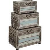 Coast to Coast Accents Islander Nesting Trunk 3 pc. Set