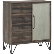 Coast to Coast Accents 1 Door, 5 Drawer Cabinet