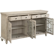 Coast to Coast Accents Millstone 4 Door, 4 Drawer Media Credenza