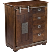 Coast to Coast Accents 4 Drawer, 1 Door Cabinet