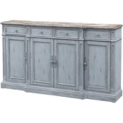 Coast to Coast Accents Delaney 4 Door, 4 Drawer Media Credenza