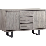 Coast to Coast Accents Yukon 2 Door, 3 Drawer Credenza