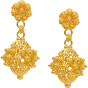 Robert Manse Designs 23K Thai Baht Gold Picun Earrings