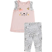 Cutie Pie Baby Infant Girls Chick Pea Kitty Tunic and Leggings 2 pc. Set