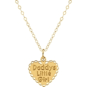 Karat Kids 14K Yellow Gold Heart Shape Daddy's Little Girl 15 in. Necklace