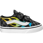 Vans Boys Old Skool Glow Flame Shoes