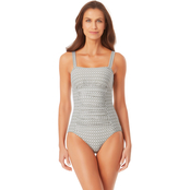 Anne Cole Straight Neck Contour One Piece Swimsuit