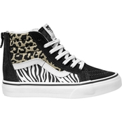 Vans Girls Animal Mix Sk8-Hi Zip Shoes