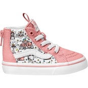 Vans Girls Puppicorns Sk8-Hi Zip Shoes