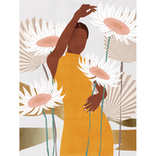Inkstry Sun Kissed Woman II Giclee Gallery Wrap Canvas Print