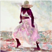 Inkstry Her Colorful Dance 2 Giclee Gallery Wrap Canvas Print