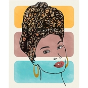 Inkstry Head Wrap 1 Giclee Gallery Wrap Canvas Print