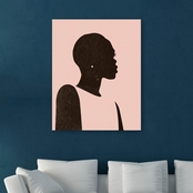 Inkstry Pink Silhouette II Giclee Gallery Wrap Canvas Print