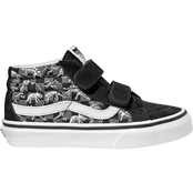 Vans Boys SK8 Mid Reissue Velcro Skate Shoes