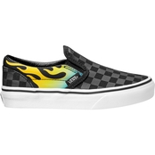 Vans Preschool Boys Classic Slip On Glow Flame Shoes