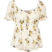 Almost Famous Juniors Sweetheart Emma Babydoll Top