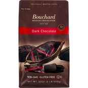 Bouchard Belgian Dark 72% Chocolate, 2 bags of 2 lb. each