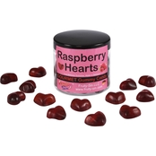 Fruity Sin Raspberry Hearts Gummies 12 Jars, 4 oz. each