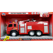 Misco Toys 1:12 Scale Friction Powered Fire Engine Truck with Light and Sound