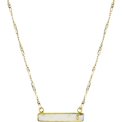 Panacea Stone Bar S Initial Necklace
