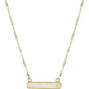 Panacea Stone Bar J Initial Necklace