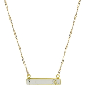 Panacea Stone Bar C Initial Necklace