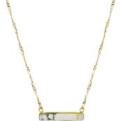 Panacea Stone Bar E Initial Necklace