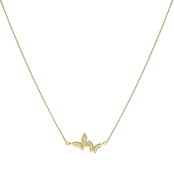 Panacea Butterfly Pair Pave Necklace