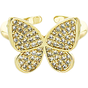 Panacea Butterfly Pave Ring