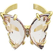 Panacea Butterfly Glass Ring