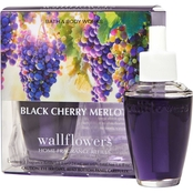 Bath & Body Works Wallflower Refill, Black Cherry Merlot 2 pk.